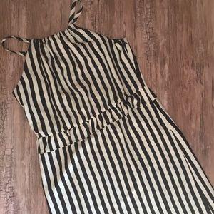 LOFT High Neck Striped Dress
